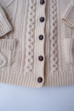 Load image into Gallery viewer, Handmade Collared Wool Cardigan, L-XL