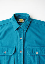 Load image into Gallery viewer, Cabelas Teal Flannel Shirt, Medium
