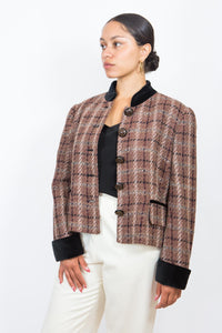 Louis Féraud Houndstooth Jacket, Size 12