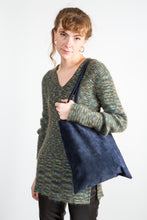 Load image into Gallery viewer, Aunt Rae Navy Suede Tote