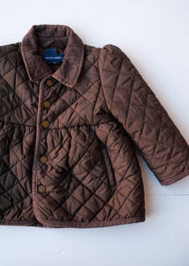 Brown Quilted Ralph Lauren Jacket, 24 months