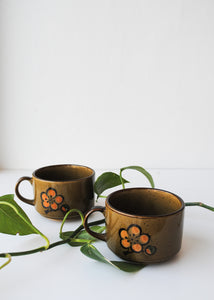 Japanese Floral Mugs (Set of 2)