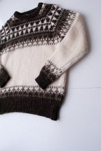Load image into Gallery viewer, Cream Fair Isle Knit, Large
