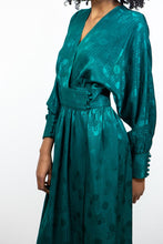 Load image into Gallery viewer, Emerald Silk Holt Renfrew Party Dress, 10