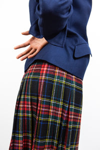 Black Wool Plaid Kilt, 28""