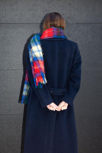 Pendleton Navy Wool Overcoat, Medium