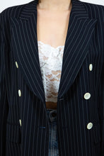 Load image into Gallery viewer, Essential 90's Pinstriped Blazer, Size 12