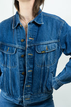 Load image into Gallery viewer, 70's Lee Dark Blue Jean Jacket, Large