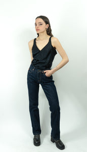 Guess? Ultra Dark Mid-Rise Straight Leg Jeans, 25""