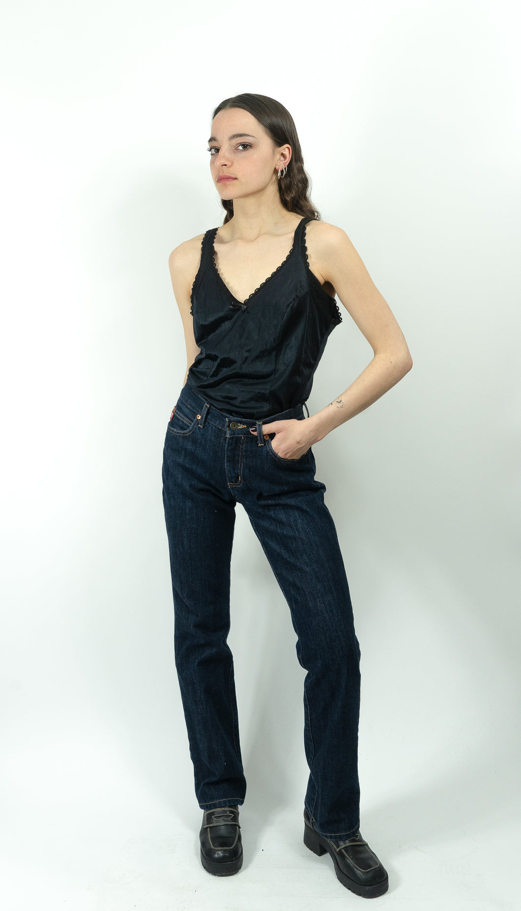 Guess? Ultra Dark Mid-Rise Straight Leg Jeans, 25