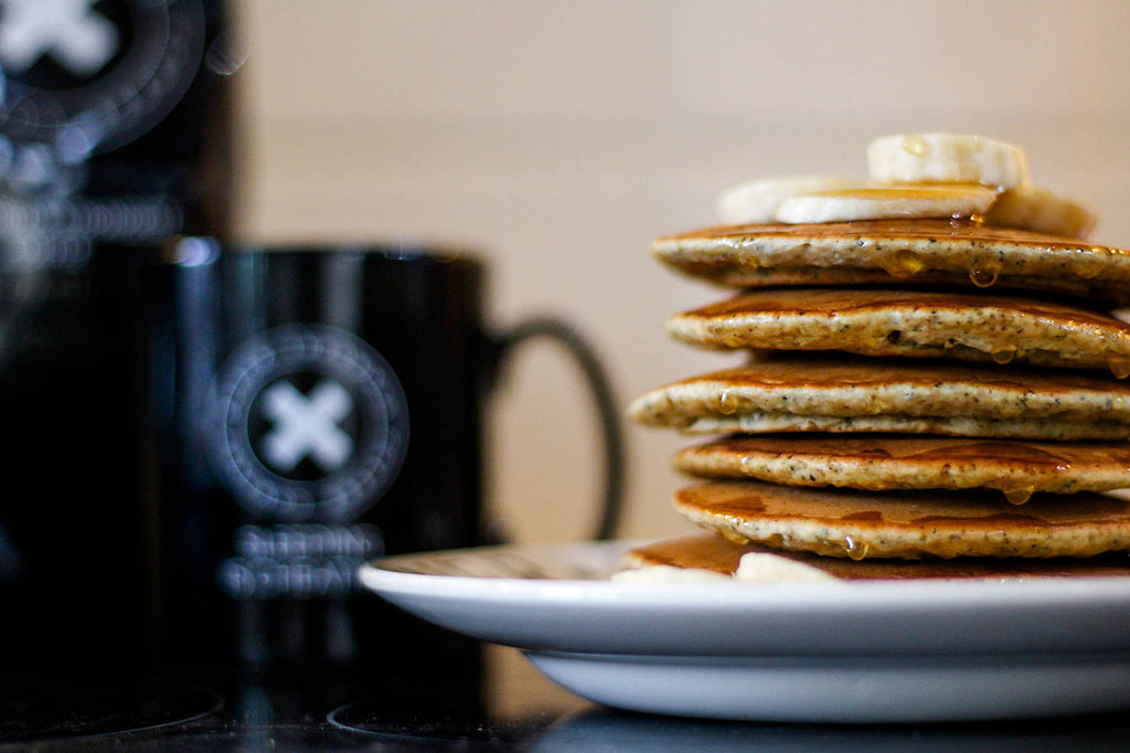 Black Insomnia Coffee-Grounds Pancakes
