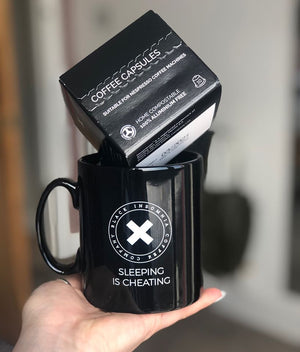 Black Insomnia Coffee Beans, Ground or Pods & Limited Edition Mug