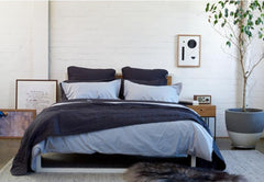 CHARCOAL QUILTED BEDSPREAD + EURO PILLOWCASE SET - Feyrehome Australia