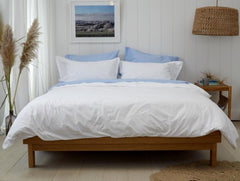 BLUE SHEET SET - Feyrehome Australia.  100% extra-long staple cotton percale. No pilling! Free shipping Australia. Afterpay and ZipPay.
