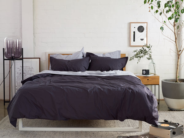 Records all Day Bedlinen Bundle Buy - Feyre Home Australia. 100% extra-long-long staple cotton percale. 300TC. No Pilling. Includes Silver Sheet Set & Charcoal Duvet Cover Set. Single-King Size. Free Shipping Australia. Aferpay and ZipPay