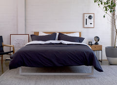 Millennial Dreams, Bedlinen Bundle.  100% extra-long staple cotton percale. No Pilling. 300TC. Includes a White Sheet Set and Charcoal Duvet Cover Set. Single-King Size. Free Shipping Australia. Afterpay and ZipPay
