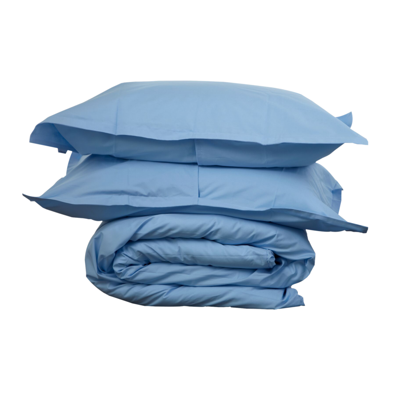 BLUE DUVET COVER SET - Feyrehome Australia 100% cotton percale Duvet set.  Free Shipping Australia.  Afterpay and ZipPay