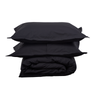 CHARCOAL DUVET COVER SET - Feyrehome Australia. 100% extra-long staple cotton percale.  No Pilling. 300TC.  Free Shipping Australia.  Afterpay and ZipPay