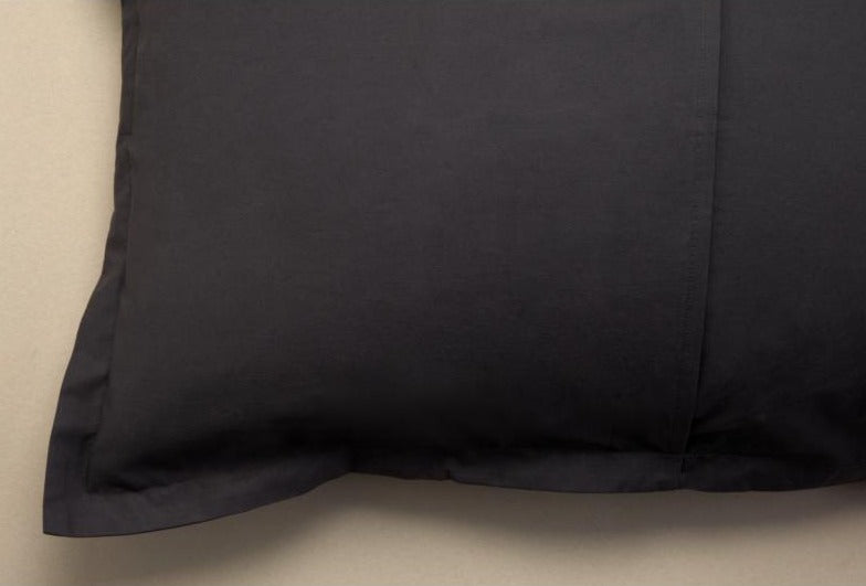 CHARCOAL DUVET COVER SET - Feyrehome Australia. Envelope Enclosure to keep your pillow hidden.