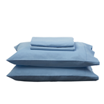 BLUE SHEET SET - Feyrehome Australia. 100% extra-long staple cotton percale. No pilling! 300TC. Free Shipping Australia. Afterpay and ZiPay