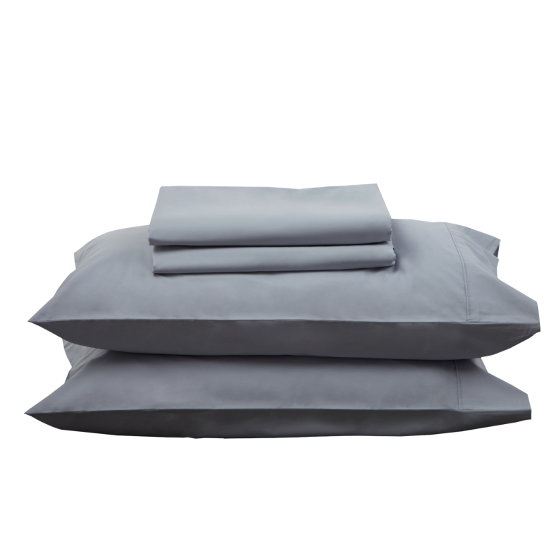 SILVER SHEET SET - Feyrehome Australia 100% extra-long staple cotton percale. 300TC. No Pilling. Includes flat, fitted and 2 pillowcases (Single and King Single-1 PC) Free Shipping Australia. Afterpay and ZipPay
