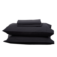 CHARCOAL SHEET SET - Feyrehome Australia.  100% extra-long staple cotton percale. No Pilling. 300TC. Free Shipping Australia.  Afterpay and ZipPay
