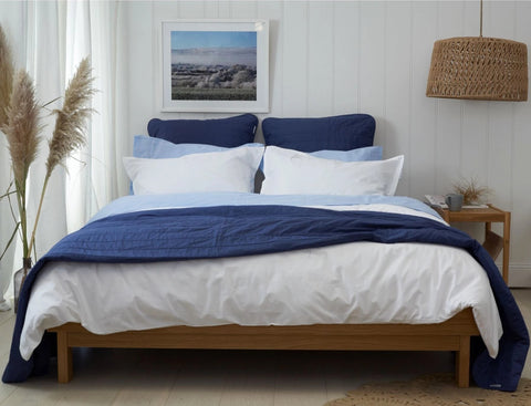 COASTAL LIVING - BEDGASM SET - Feyrehome Australia. 100% extra-long staple cotton percale Bedlinen bundle buy.  300TC. Includes Sheet Set, Duvet Set, Bedspread & Euro pillowcases. Free shipping Australia. Afterpay and ZipPay