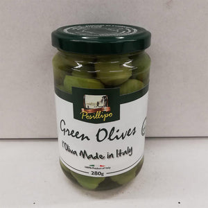 Posillipo Green Whole Sicilian Olives 280gr