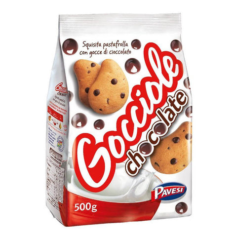 Gocciole biscuits with chocolate flakes 500gr