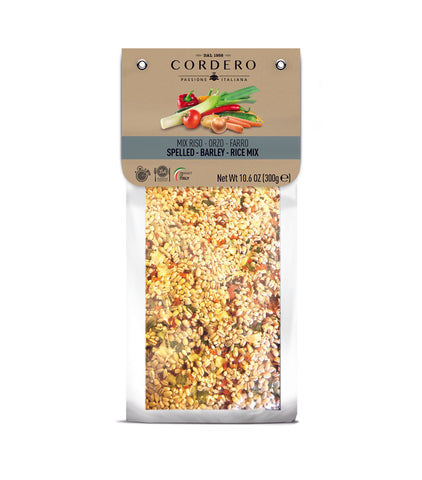 Rice, barley and spelled mix with vegetables - Vacuum pack