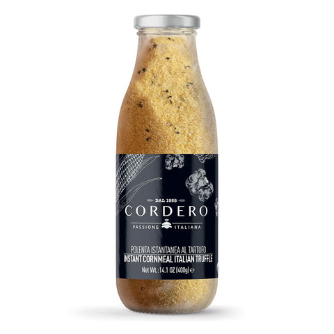 Glass bottle with Polenta and truffle