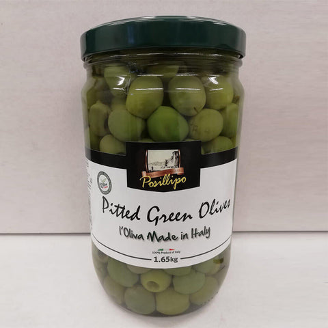 Posillipo Pitted Green Sicilian  Olives 1.65Kg