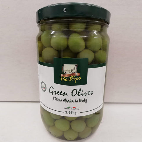 Posillipo Whole Green Sicilian Olives 1.65 Kg