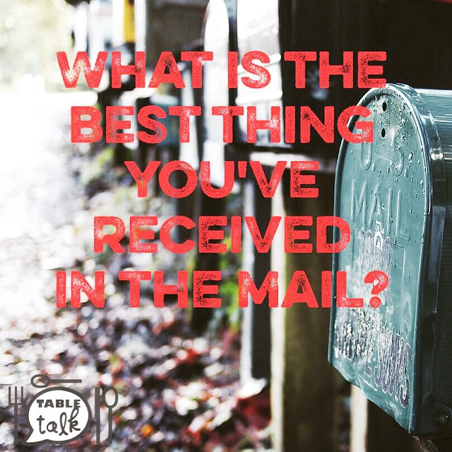 What is the best thing you've received in the mail?