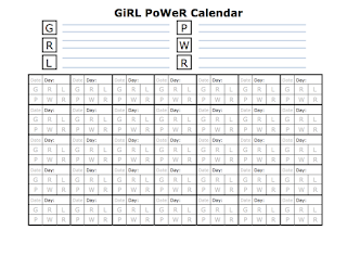 Girl Power Calendar