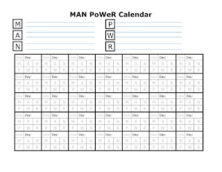 Man Power Calendar