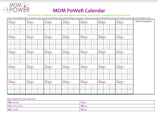 Mom Power Calendar