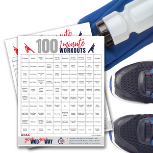 100 No Equipment 1 Minute Workouts | 100 At Home Workout PDF Digital Download-The-Winegar-Company-LindaWinegar-fidjiti-ClarknLinda