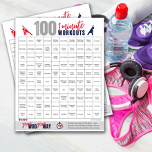 Load image into Gallery viewer, 100 No Equipment 1 Minute Workouts | 100 At Home Workout PDF Digital Download-The-Winegar-Company-LindaWinegar-fidjiti-ClarknLinda