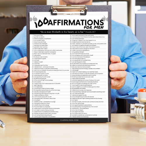 100 Affirmations Arsenal for Men-The-Winegar-Company-LindaWinegar-fidjiti-ClarknLinda