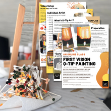 Load image into Gallery viewer, First Vision Qtip Painting | Class Instructions - Winegar Company