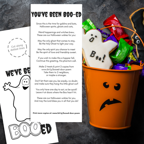 You've Been Boo-ed w/ Holy Ghost Poem | Halloween Door Hanger-The-Winegar-Company-LindaWinegar-fidjiti-ClarknLinda