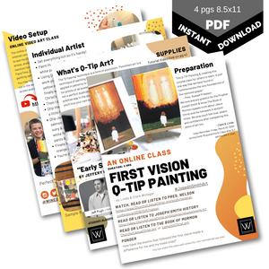 First Vision Qtip Painting | Class Instructions - Winegar Company