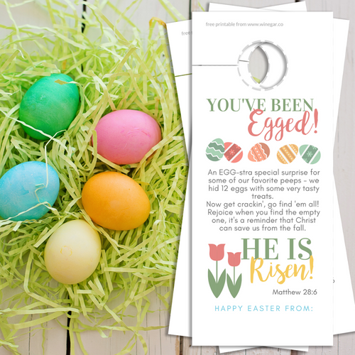 He is Risen | You've Been Egged w/ Poem | Easter Door Hanger | PDF Digital Download - Winegar Company