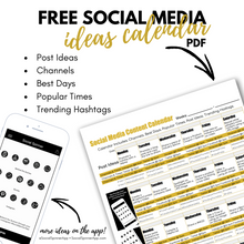 Load image into Gallery viewer, 4 Weeks of Social Media Content Ideas | PDF Digital Download-The-Winegar-Company-LindaWinegar-fidjiti-ClarknLinda