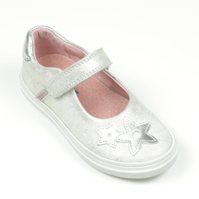 Richter Girls Silver Mary Jane Shoe