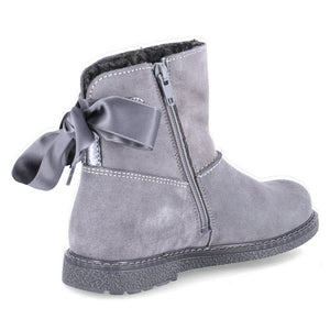 Richter Grey Waterproof Ankle Boot with ribbon