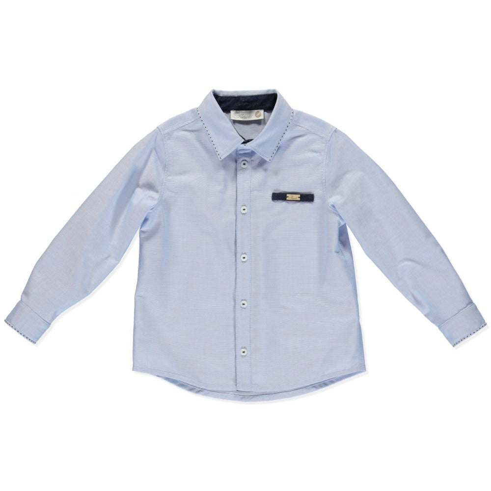 purete du bebe boys pale blue shirt