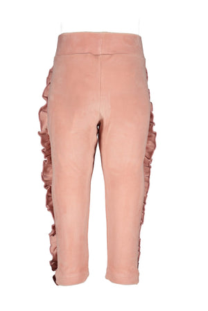 Le Chic Baby Girls Pink Velour Tracksuit Set
