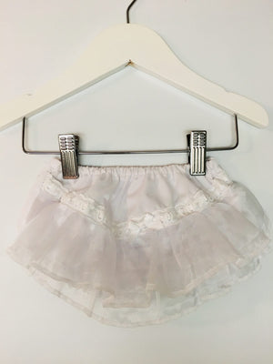 Pex Girls White Frilly Knickers